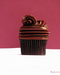 Dark Chocolate Cupcake with Chocolate Chambord Ganache