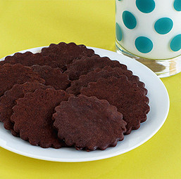 Chocolate Cayenne Wafer Cookies