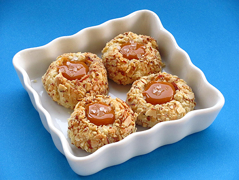Salted Caramel Thumbprint Cookies BakersRoyale1