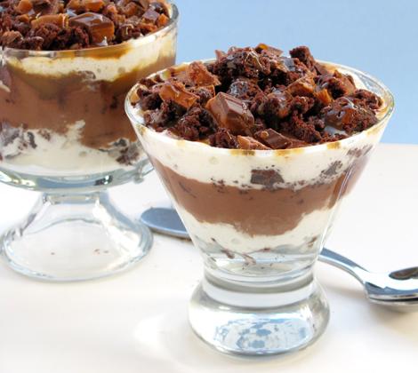 Caramel Brownie Trifle