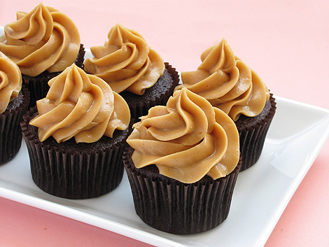 Chocolate Cupcakes with  Peanut Butter Mousse Frosting
