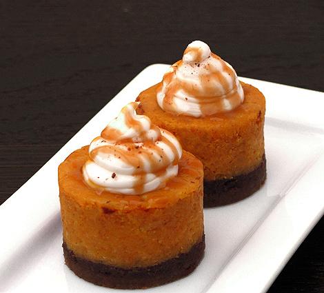 Spiced Pumpkin Cheesecake with Bourbon Whip Cream