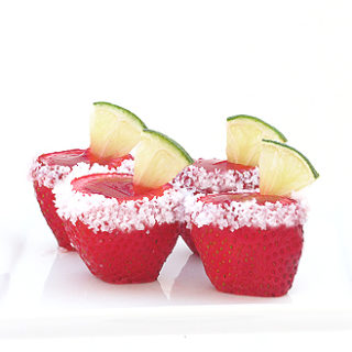 Strawberry Margarita Jell O Shooters