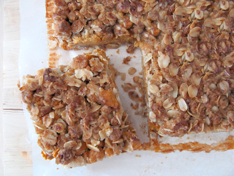 Pumpkin Pie Struesel Bars