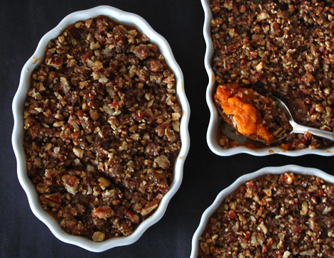Sweet Potatoes with Pecan and Gingersnap Praline Topping-Bakers Royale