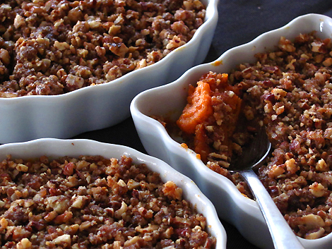 Sweet Potatoes with Pecan and Gingersnap Praline Topping11