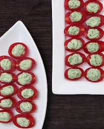 Cherry Tomato Pesto Bites
