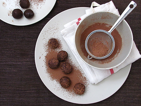 Chocolate Frangelico Truffles