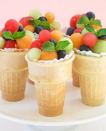 #10 Fruit Salad Ice Cream Cones