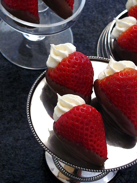 Cheesecake Stuffed Chocolate Covered Strawberries-Bakers Royale