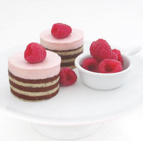 Raspberry Mousse Cake BakersRoyale11