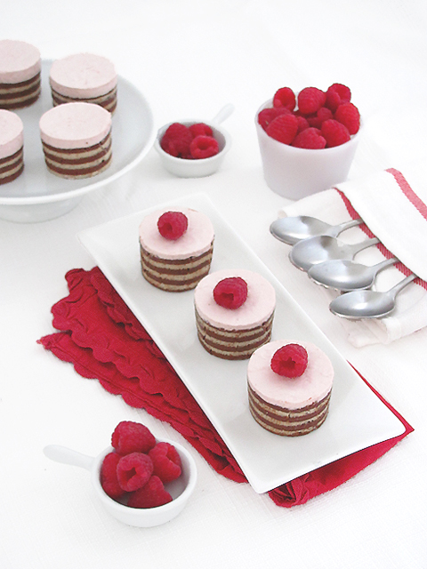 Raspberry Mousse Cakes