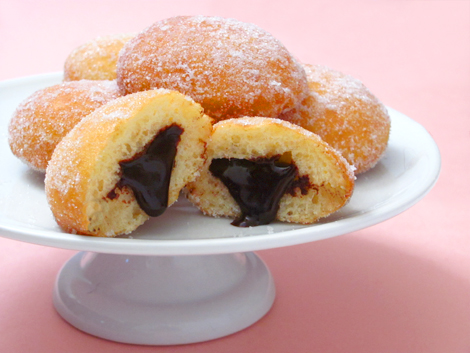 Chocolate Beer Truffle Filled Donuts