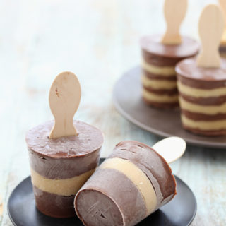 Chocolate and Salted Caramel Pudding Pops