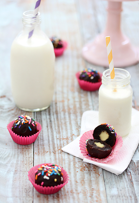 Creme Filled Brownie Bites