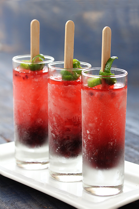 Blackberry Prosecco Popsicles