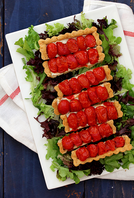 Roasted Cherry Tomato Tart
