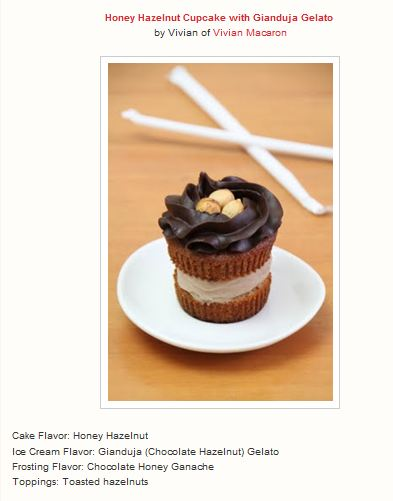 Honey Hazelnut Cupcake with Gianduja Gelato by Vivian Macaron1