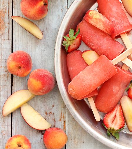 Strawberry Peach Vodka Collins