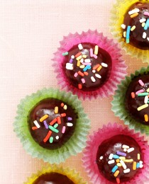 Cake Batter Bombes