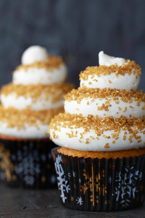Eggnog Cupcakes with Spiced Rum