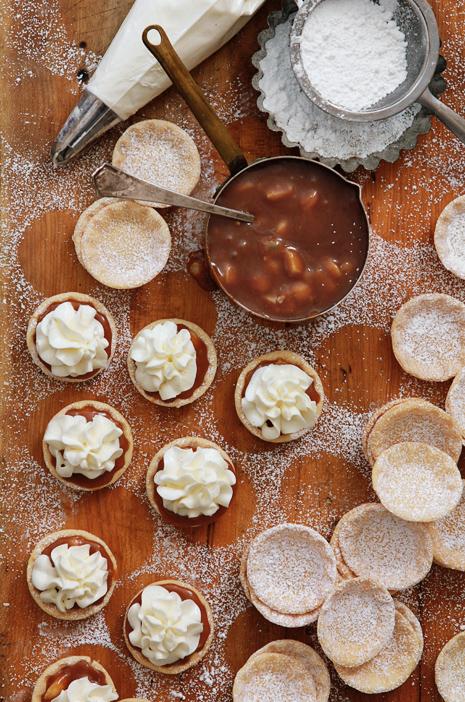 Caramel & Macadamia Nut with White Chocolate Tarts