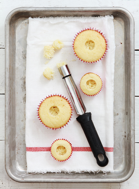 How to corer and fill a cupcake Bakers Royale1