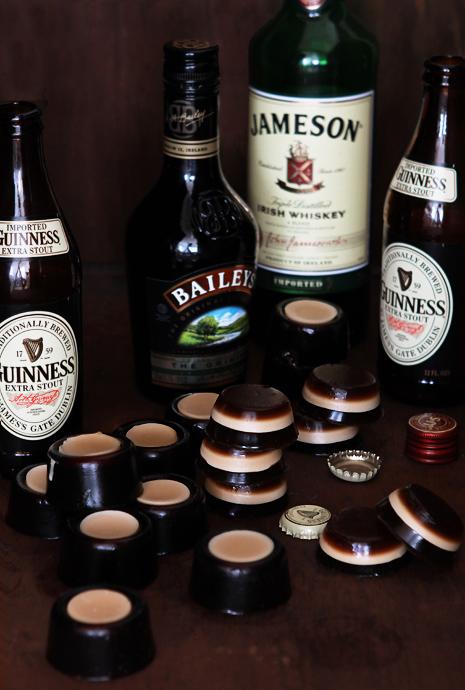 Boozy Bites: Irish Car Bombs Jell-o Shots