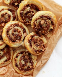 Chocolate and Toffee Pecan Pinwheel Cookies_Bakers Royale