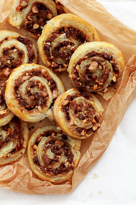 Chocolate and Toffee Pecan Pinwheel Cookies Bakers Royale11