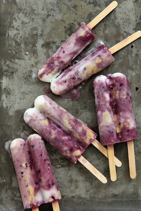 Blueberry Cabernet Cheesecake Popsicle