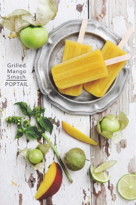 Cocktail Popsicle: Grilled Mango Smash