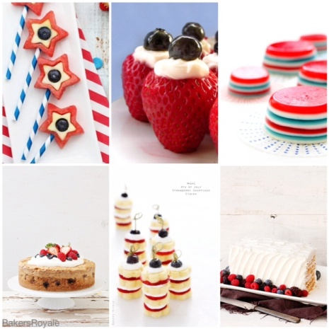 4th of July Desserts via Bakers Royale1