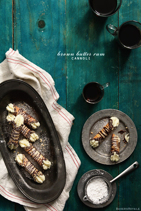 Brown Butter Rum Cannoli by Bakers Royale1
