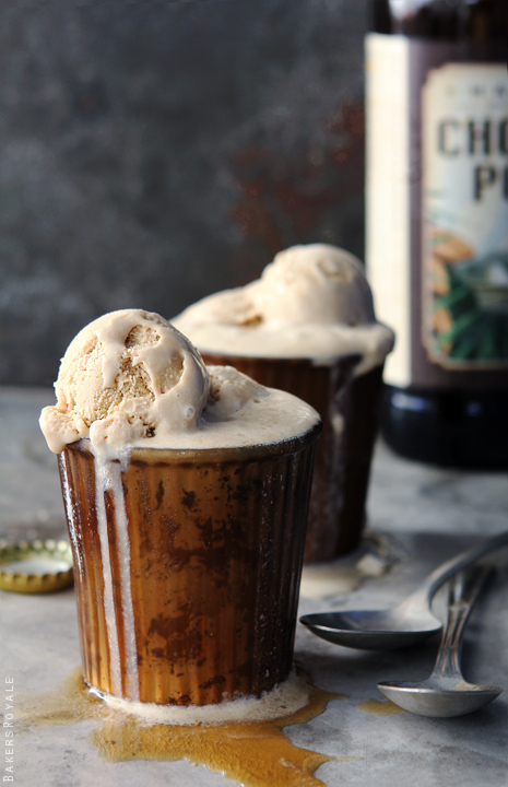 Chocolate Porter and Coffee Biscoff Beer Floats by Bakers Royale