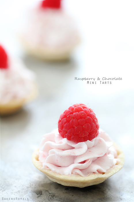 Raspberry-and-Chocolate-Mini-Tartlets-via-Bakers-Royale1