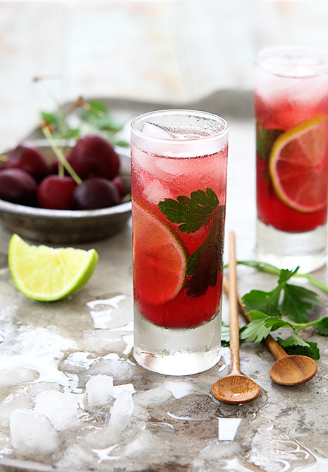 Cherry Cilantro Mojito by Bakers Royale1