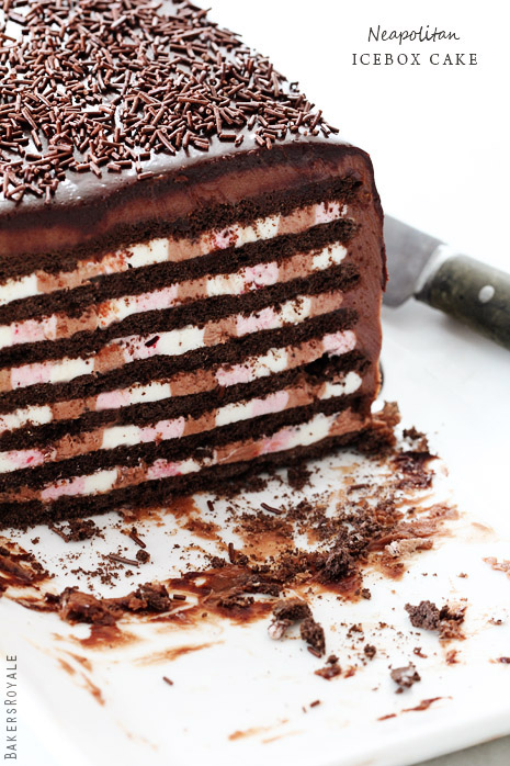 Neapolitan Icebox Cake by Bakers Royale1