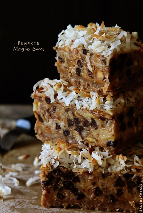 Pumpkin Magic Bars by Bakers Royale 21