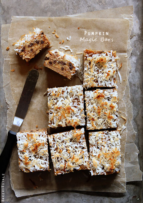 Pumpkin Magic Bars via Bakers Royale1