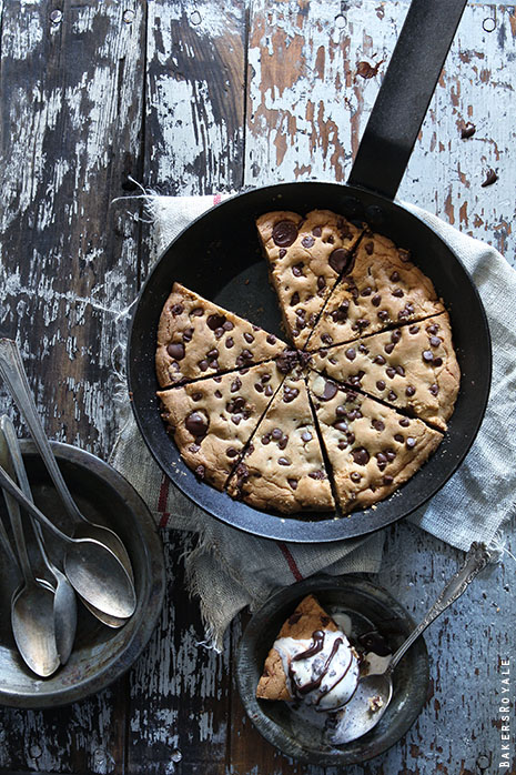 Skillet Chocolate Chip Cookie by Bakers Royale21