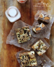 Butterfinger Cookie Dough Cheesecake Bars from Bakers Royale 210x260