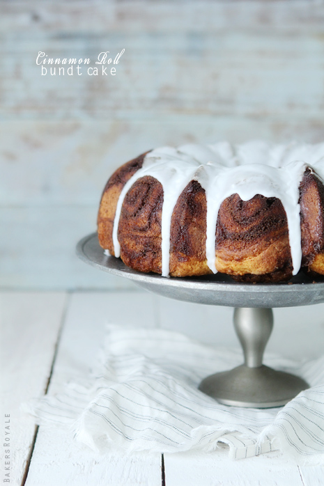 Cinnamon Roll Bundt Cake by Bakers Royale31