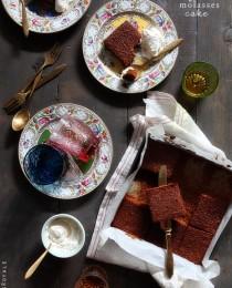 Old Fashion Molasses Cake via Bakers Royale 210x260