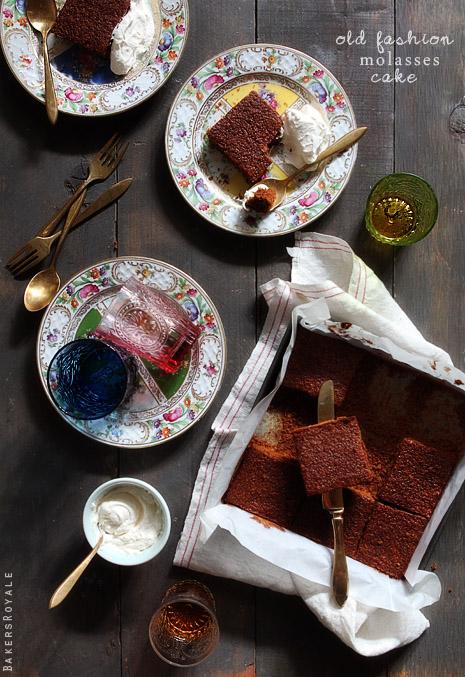 Old Fashion Molasses Cake via Bakers Royale1