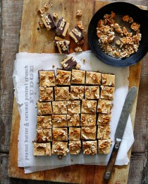 Peanut Butter and Caramel Crunch Fudge by Bakers Royale 210x260