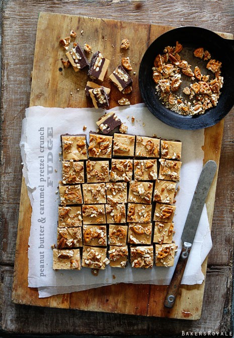 Peanut Butter and Caramel Crunch Fudge by Bakers Royale1