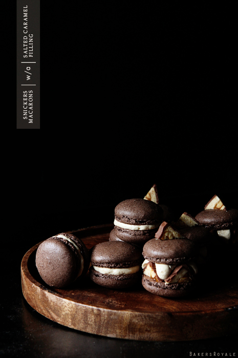 Snickers Macaron via Bakers Royale