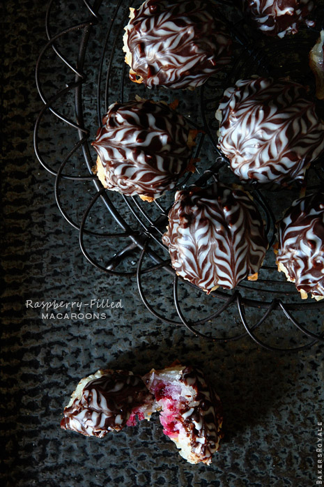 Raspberry Filled Macaroons by Bakers Royale1