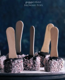 Peppermint Brownie Pops via Bakers Royale